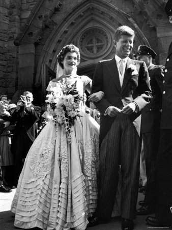 Her dress required 50 yards of ivory silk taffeta to make the dress