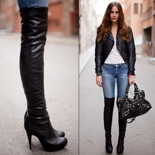 1000  images about Over the Knee Boots on Pinterest | Faux fur